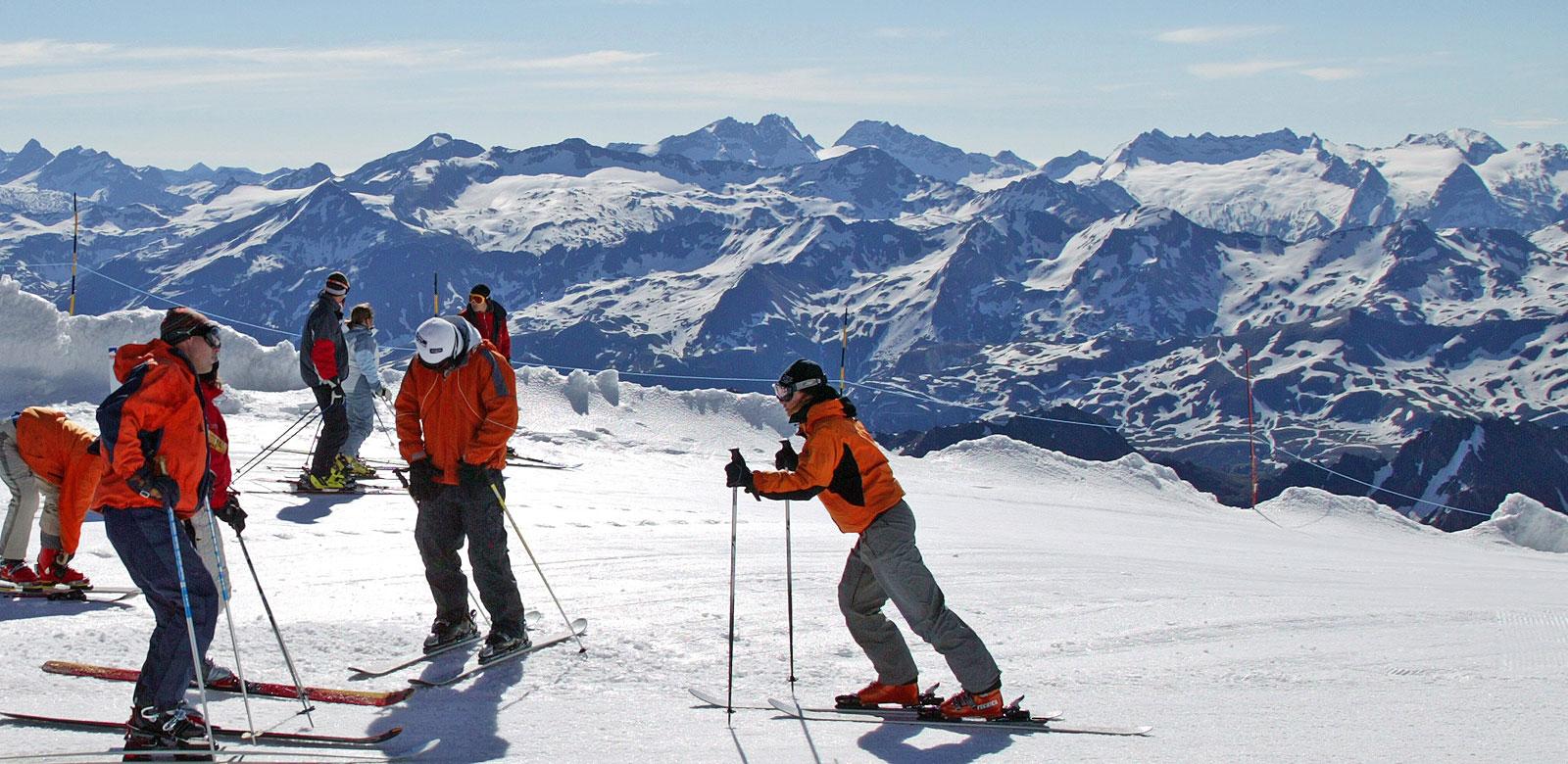 Summer ski glacier skiing